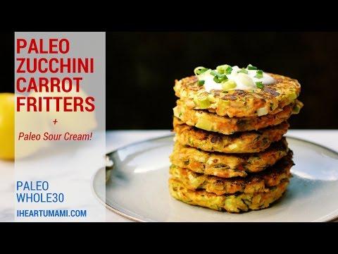 Zucchini Carrot Fritters (Paleo, Whole30)