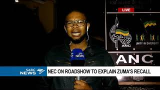 ANC NEC members to report on reasons for Zuma