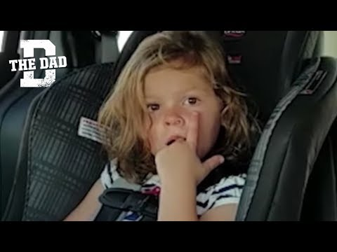 Adorable kid gets gum stuck in her nose. Watch how she gets it out.