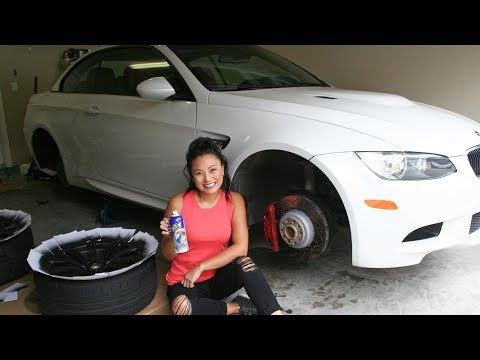 Yup, I plasti dipped my wheels black (M3)