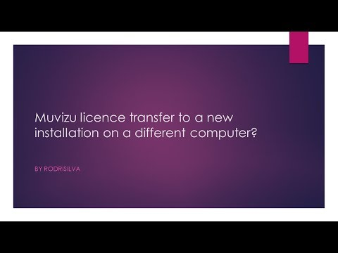 Transfer Muvizu Play + Licence to New Computer