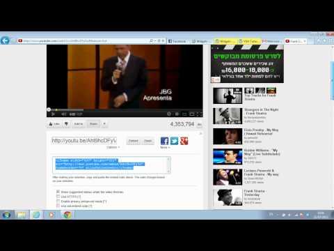 How to add video to widget area on Wordpress