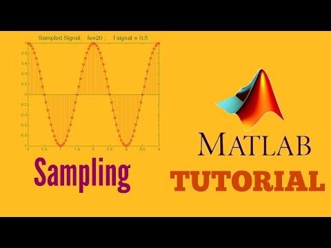 Matlab tutorial - Sampling a Signal