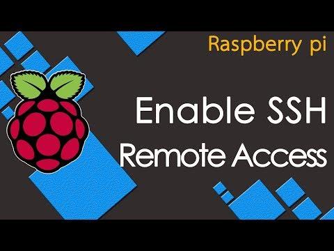 raspberry pi enable remote access SSH on rasbian