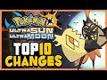 Top 10 CHANGES for Pokémon Ultra Sun & Ultra Moon