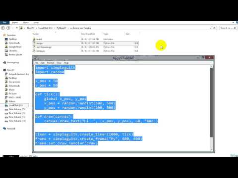 A quick demo of exe file of Python code