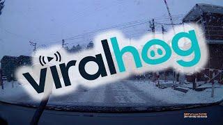 Boom Gates Open up as Train Passes || ViralHog