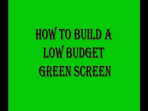 Build Your Own Low Budget Green Screen