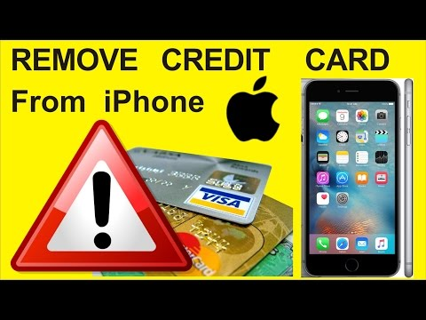 How to delete / remove credit card details from apple iphone 6 , itunes, app store, ipad in HINDI