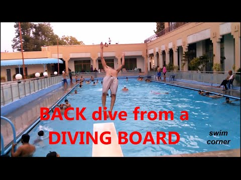 How to dive backward from diving board