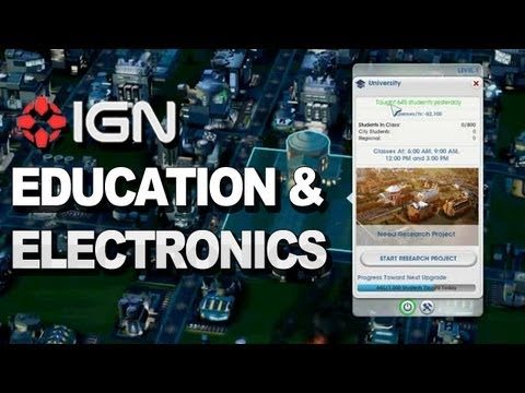 SimCity: How the Education & Electronics Specialization Works