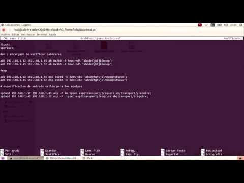 Configuracion ipsec ipv4 Linux Ubuntu 14.04