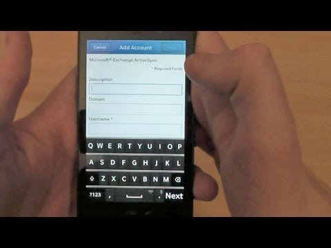 How to Set Up Gmail Sync on BlackBerry Z10