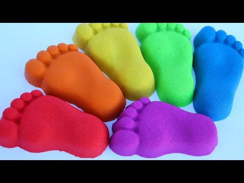 Learn Colors Kinetic Sand Finger Family Nursery Rhymes Kids Video Mighty Toys