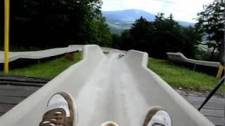 Bromley Alpine Slide High Speed Crash / Wipeout