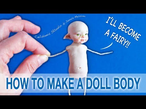 How to make a Fairy Doll Body from Polymer Clay