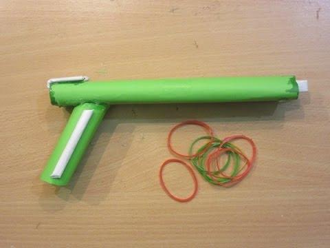 How to Make a Paper Gun that Shoots 2 Rubber Bands - Easy paper Shotgun Tutorials