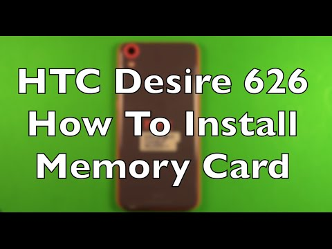HTC Desire 626 How To Install The Micro SD Memory Card