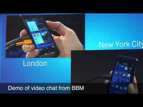 BlackBerry Z10 BBM video chat and screen sharing demo