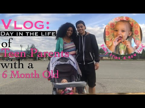 Vlog//Day in the Life of Teen Parents with a 6 Month Old!