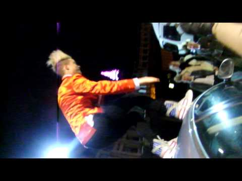 john grimes, getting way from fans climbing over a car, blackpool opra house (jedward)