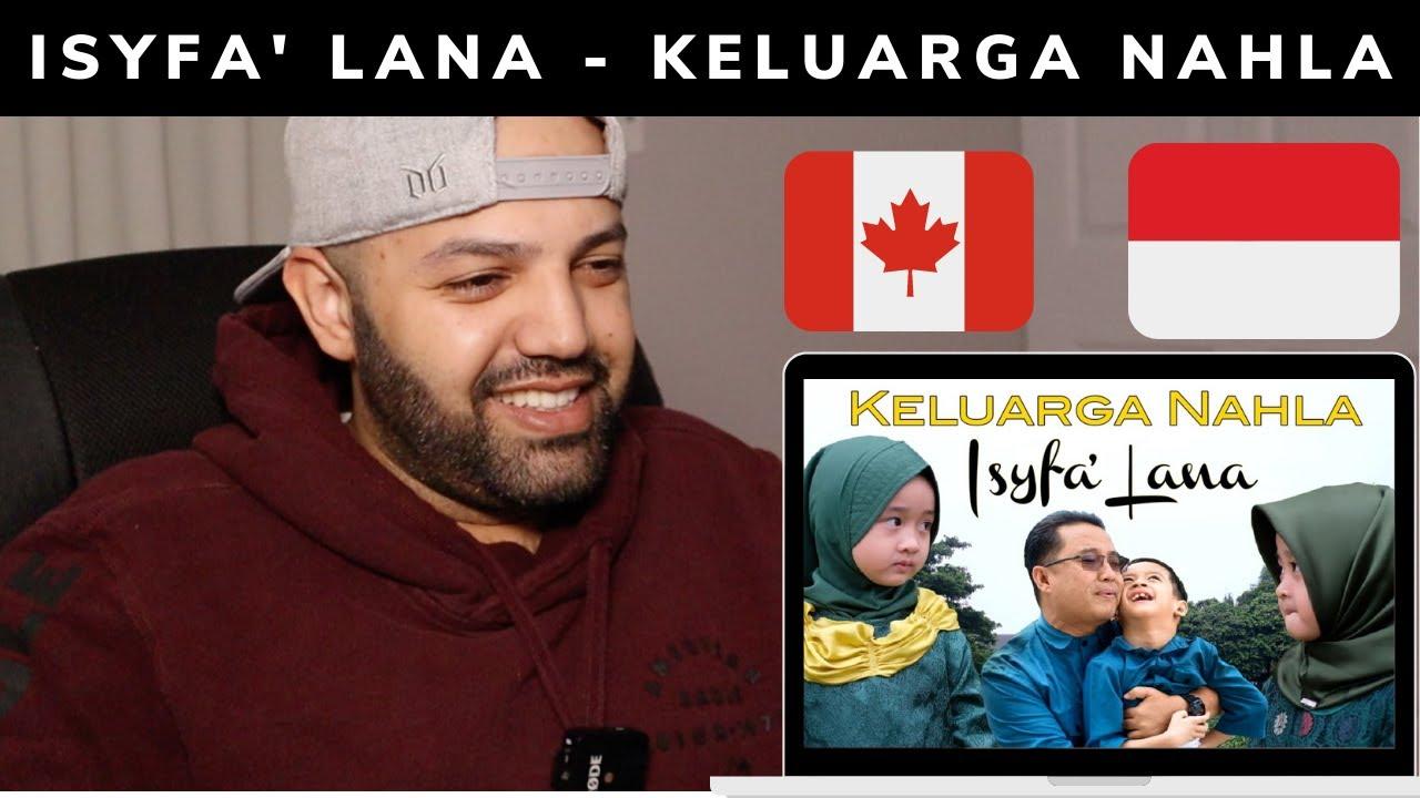 ISYFA' LANA (COVER) - KELUARGA NAHLA - Reaction (BEST REACTION)
