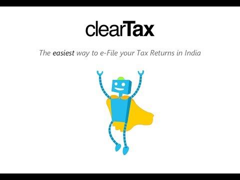 ClearTax - www.cleartax.in - India's easiest tax return e-filing website