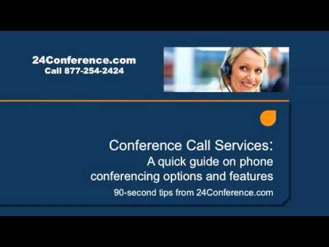 Conference Call Services for Business and Organizations from 24Conference.com