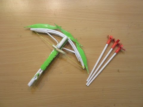 How to Make a Paper Crossbow (Dragon crossbow) - Easy Creative Paper Arrow Tutorials