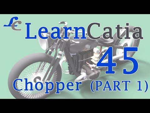 Learn catia V5 Tutorials for beginners   Chopper   Part 1 💙