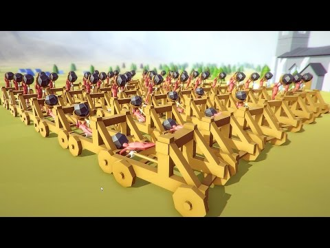 Totally Accurate Battle Simulator - Amazing Catapult Army! - TABS Funny Moments Gameplay