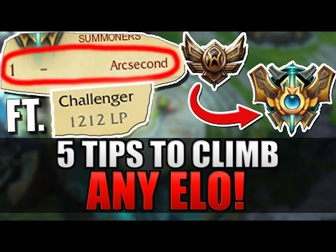 5 TIPS TO CLIMB IN ANY ELO ft. Arcsecond (#1 Challenger) - League of Legends