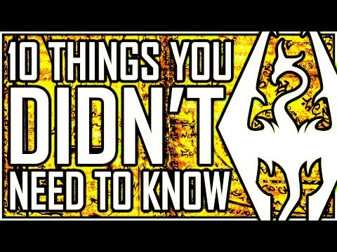 SKYRIM - 10 Things You DIDN'T Need To Know (but secretly need to know) - The Moon Is Mars?