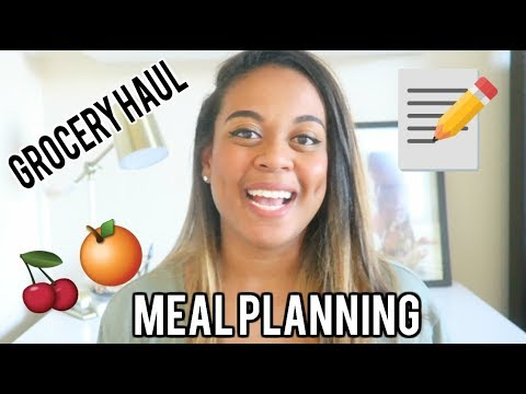 Meal Plan With Me! Grocery Shop With Me! Healthy Family Grocery Haul! 2017