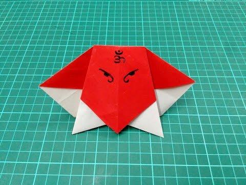 How to make origami paper ganapati / ganesha | Origami / Paper Folding Craft, Videos & Tutorials.