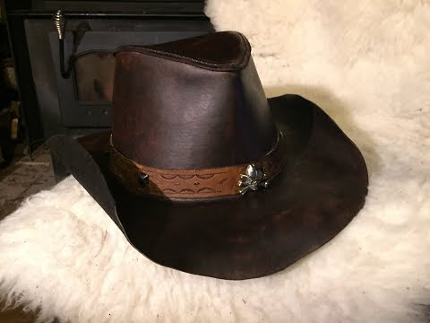 How to make a leather hat part 1