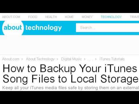 How-To Back Up Songs In Itunes