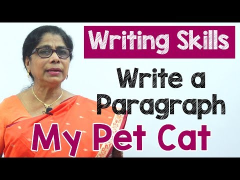 How to Write a Paragraph about My Pet Cat in English   Composition Writing    Reading Skills