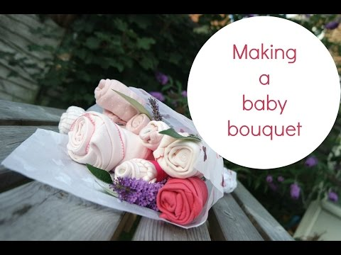 Making a baby bouquet with M&S