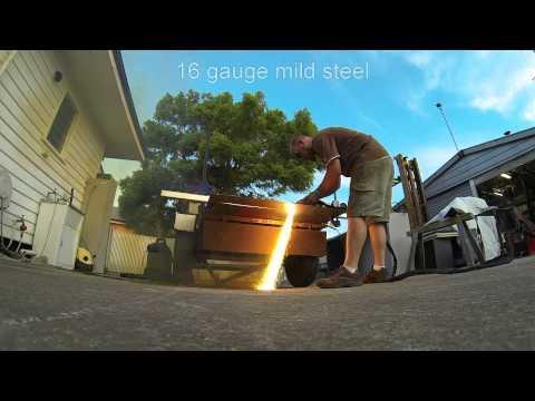 16 gauge mild steel cut on a tokentools pac50 plasma cutter