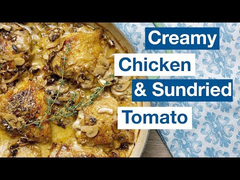 One Pan Chicken with Sun Dried Tomato Cream Sauce    Le Gourmet TV Recipes