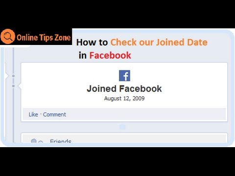 How to Check Joined date in Facebook