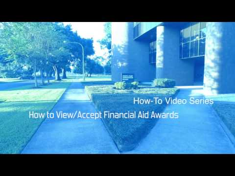How to View Accept Financial Aid Awards
