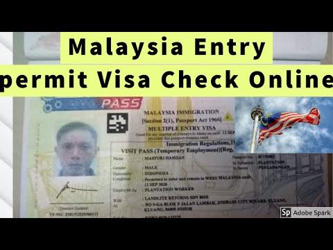 Imigresen Malaysia Entry permit Visa Check Online