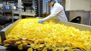 Awesome Automatic Potato Chips Making Machines | Amazing Skills Fast Workers in Food Processing Line