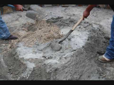 How to make mortar for a stone patio