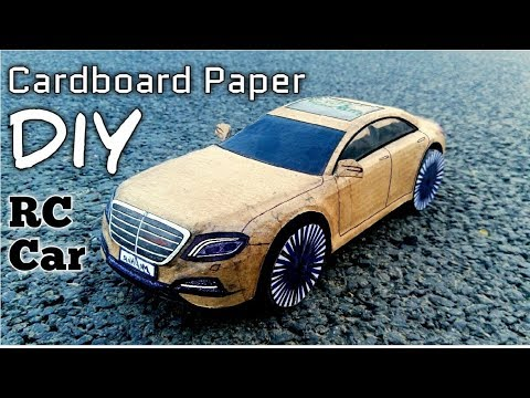 How To Make a RC Car out of Cardboard Paper, Super Mercedes-Benz S-Class,, amazing DIY RC toy Car