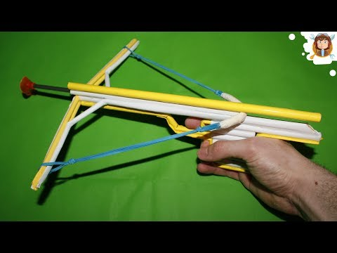 How to make a Paper Crossbow - (Mini Crossbow)