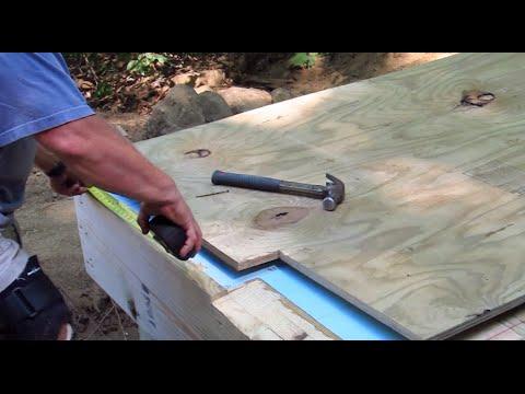 DIY Shed AsktheBuilder Shed Floor Plywood Layout Part 1