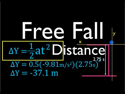Physics, Kinematics, Free Fall (5 of 12) Solving for Displacement (Distance Fallen)